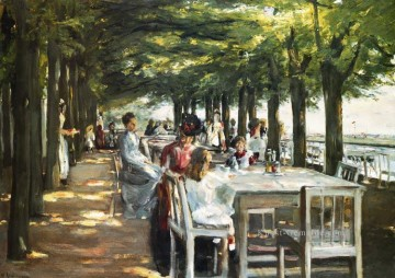 Max Liebermann Werke - Terrasse des Restaurants Jacob in Nienstedten an Elbe Max Liebermann deutscher Impressionismus